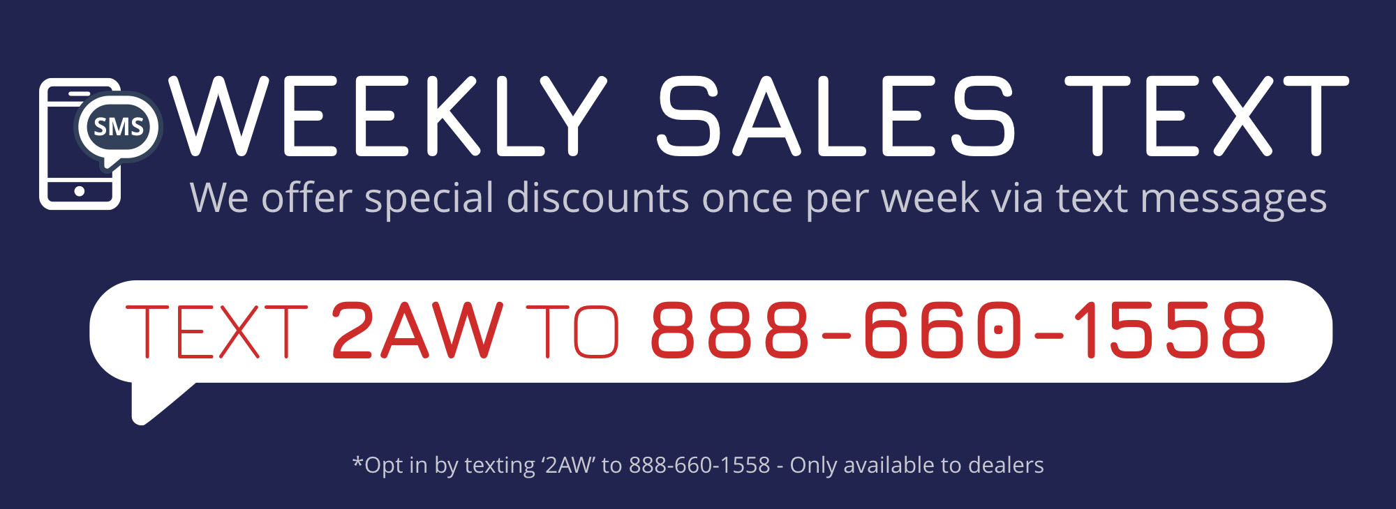 Weekly Sales Text