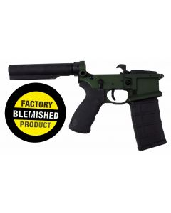 FACTORY BLEM - Franklin Armory BFSIII Equipped LIBERTAS BLR Complete AR15 Lower Receiver - OD Green | Installed BSFIII Trigger | Carbine Length Buffer Tube | BLEMISHED, sold As-Is NO RETURNS