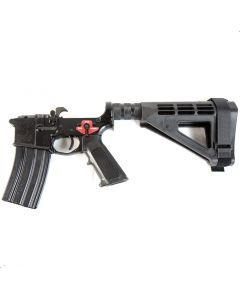 Franklin Armory BFSIII Equipped PISTOL Complete AR15 Pistol Lower Receiver - Black | Installed BSFIII Trigger | SBM4 Brace