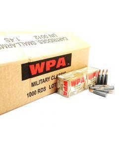 Wolf Steel Case 7.62X39mm Rifle Ammo- 124 Grain | HP | 1000rd Case