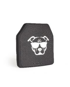Guard Dog Tactical Level lll UHMWPE 10X12 Ceramic Plate | 3.9 Lbs/Per - Black