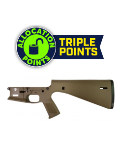 KE Arms KP-15 Polymer Stripped AR15 Lower Receiver - FDE | Integral Buttstock & Pistol Grip