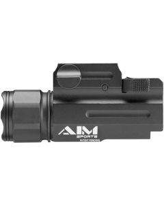 Aim Sports Full Frame 330 Lumen Compact Flashlight - Black | QRM Color Lense Filters
