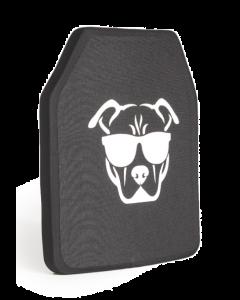 Guard Dog Tactical Level llla Ultralight 10X12 Ceramic Plate | 1 Lb/Per - Black