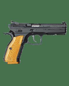 "CZ Shadow 2 SA Pistol - Black| 9mm | 4.89"" Barrel | 17rd | Orange Grip"