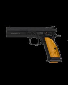 "CZ 75 Tactical Sport Pistol - Black   40 S&W   5.23"" Barrel   17rd   Target Sights   Orange Grips"
