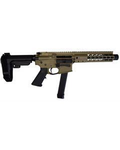 "Brigade MFG BM-9 Forged Aluminum AR Pistol - FDE | 9mm | 9"" Barrel | 8"" U-LOC Rail | Faux Can | SBA3 Arm Brace"