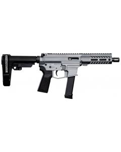 "Angstadt Arms UDP-9 Billet Aluminum AR Pistol - Tactical Grey | 9mm | 6"" Barrel | 5.5"" M-LOK Rail | SBA3 Brace | Accepts Glock Mags"