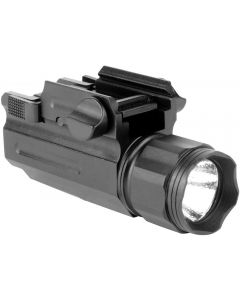 Aim Sports Full Frame 220 Lumen Compact Flashlight - Black | Quick Release Mount