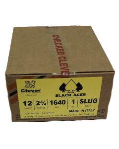 Black Aces Tactical 12ga Slugs 2.75 inch Shotgun Shells - SLUG | 1640 fps | Zinc coated steel casing | 1 Case (20 boxes/200rds)