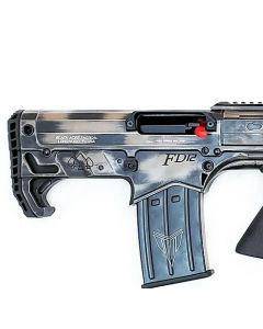 """Black Aces Pro Series Bullpup Pump Shotgun - Distressed FDE   12ga   18.5"""" Barrel   Barrel Shroud"""