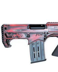 "Black Aces Pro Series Bullpup Pump Shotgun - Distressed Red   12ga   18.5"" Barrel   Barrel Shroud"