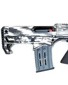"Black Aces Pro Series Bullpup Pump Shotgun - Distressed White | 12ga | 18.5"" Barrel | Barrel Shroud"