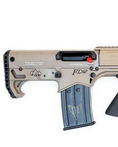 """Black Aces Pro Series Bullpup Pump Shotgun - FDE   12ga   18.5"""" Barrel   Barrel Shroud"""