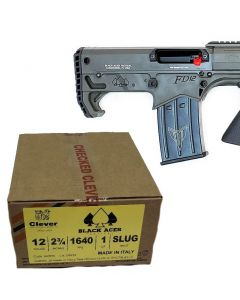 "Black Aces Pro Series Bullpup Pump Shotgun - OD Green | 12ga | 18.5"" Barrel | Barrel Shroud Bundled w/ Black Aces Tactical 12ga Slugs 2.75 inch Shotgun Shells - SLUG | 1640 fps | Zinc coated steel casing | 1 Case (20 boxes/200rds)"
