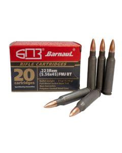 Barnaul .223 Remington Rifle Ammo - 55 Grain | FMJ-BT | Steel Casing | 500rd Case