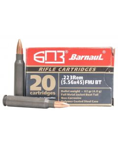 Barnaul .223 Remington Rifle Ammo - 62 Grain | FMJ-BT | Steel Casing | 500rd Case