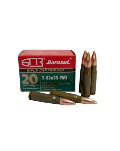 Barnaul 7.62x39 Rifle Ammo - 123 Grain | FMJ | Lacquered Steel Casing | 500rd Case