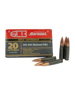 Barnaul 300BLK Rifle Ammo - 145 Grain | FMJ | Steel Casing | 500rd Case