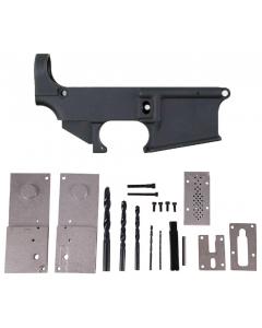 Anderson AM-15 80% Forged AR Lower - Black Bundled w/ Anderson 80% Lower Jig Kit - Gen 2