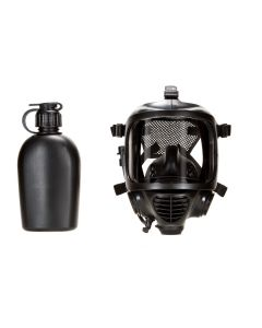 MIRA Safety CM-6M Tactical Gas Mask - Includes Pre-installed Hydration System & Canteen | Full-Face Respirator for CBRN Defense