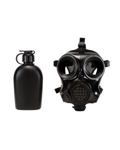 MIRA Safety CM-7M Military Gas Mask - Small | Includes Pre-installed Hydration System & Canteen | CBRN Protection Military Special Forces, Police Squads, and Rescue Teams