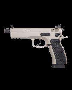 "CZ 75 SP-01 Tactical Pistol - Urban Grey | 9mm | 5.21"" Threaded Barrel | 18rd | Night Sights | Suppressor Ready"