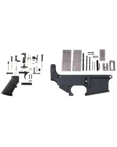 Anderson AM-15 80% Forged AR Lower - Black Bundled w/ Anderson 80% Lower Jig Kit - Gen 2 & Tactical Superiority AR-15 Lower Parts Kit