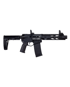"Diamondback DB15 AR Pistol - Black   5.56NATO   7"" Barrel   9"" M-LOK Rail   MOE K+ Grip   Flash Can   MOD2 Tailhook Brace   MBUS Sights"