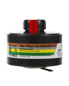 MIRA Safety DOTpro 320 40mm Gas Mask Filter - 7.5 Year Shelf Life | Fits CM-6M & CM-7M Gas Mask