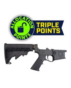 E3 Arms Omega-15 Polymer Complete AR15 Lower Receiver - Black | M4 Buttstock | Gen II