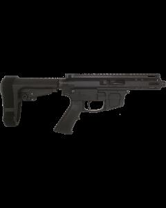 "FM FM9 Billet AR15 Pistol - Black | 9mm | 5"" Barrel | SBA3 Brace| Mag NOT Included"