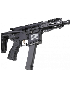 "Fostech Bulldog Tech-15 Pistol - Black | 9mm| 4.5"" Barrel | 4"" Mach-2 Rail | Deadfoot Arms SCW | Tailhook Brace | Installed Echo-II Trigger"