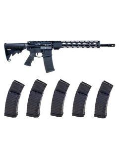 "Faxon Firearms Ascent Forged Aluminum AR15 Rifle - Black | 5.56NATO | 16"" Barrel | 13"" M-LOK Rail Bundled w/ 5 ATI Schmeisser S60 Mags"
