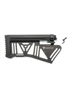 Juggernaut Tactical Silent Stock System - Black | AR10 | Featureless