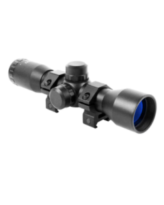 Aim Sports Tactical Rifle Mil-Dot Scope - Black | Includes Rings | 4x32mm