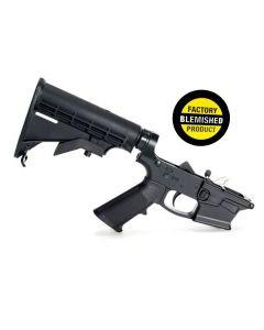 FACTORY BLEM - KE Arms KE-9 Billet Complete Glock 9mm Lower - Black | M4 Buttstock | BLEMISHED, sold As-Is NO RETURNS