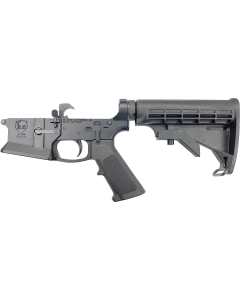KE Arms KE-15 Billet Flared Magwell Complete AR15 Lower - Black | Mil-Spec Parts Kit