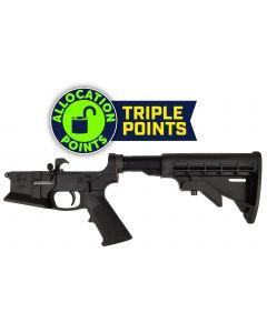 KE Arms KE-15 Billet Flared Magwell Complete AR15 Lower - Black | Mil-Spec Parts Kit