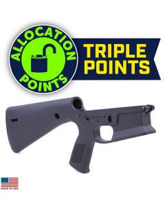KE Arms KP-15 Polymer Stripped AR15 Lower Receiver - Black | Integral Buttstock & Pistol Grip
