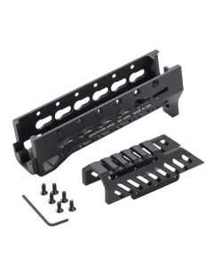 Manticore Arms ALPHA Mini Draco Rail - Black | KeyMod | Lower & Upper Forend