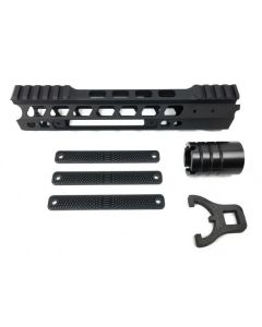Manticore Arms AR15 Transformer Rail Gen 2 - Black | 9'' | 3 Polymer Grip Panels
