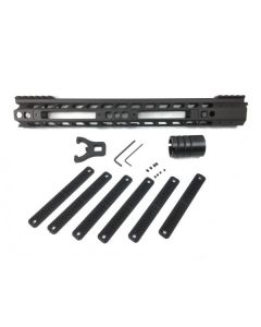 Manticore Arms AR15 Transformer Rail Gen 2 - Black | 15'' | 6 Polymer Grip Panels