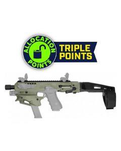 CAA Micro Conversion Kit - OD Green | Fits Glock 17, 19, 19X, 22, 23, 31, 32, G45