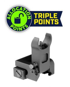 Aim Sports AR15 Low Profile Front Flip Up Sight - Black