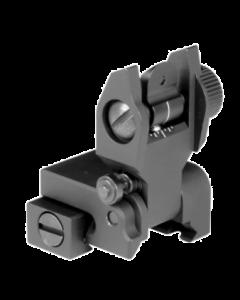 Aim Sports AR15 Low Profile Rear Flip Up Sight - Black