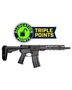 "Battle Arms Development Forged WORKHORSE AR15 Pistol - Black | 5.56NATO | 10.5"" Barrel | 9.5"" M-LOK Free-Float Rail | Mil-Spec Charging Handle | Nickel Teflon Trigger | SBA3 Arm Brace"