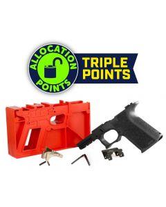 Polymer 80 PF940C 80% Compact Pistol Frame Kit V1- Black | Compatible with Glock 19/23 Gen 3