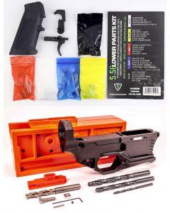 Polymer 80 RL556 Phoenix V3 80% Polymer AR Lower - Black Bundled w/ Tactical Superiority AR-15 Lower Parts Kit