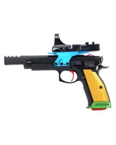 "CZ 75 Parrot Sport Pistol - Black | 9mm | 5.4"" Barrel | 26rd | C-More Red Dot Sight | Exclusive Color Configuration"